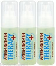 3 x 30ml Aloe Dent Fresh Breath Therapy Spray Freshener (Alcohol & Sugar Free)