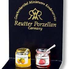 DOLLHOUSE Glass Jam Jar Set 1912/0 Reutter Spoon Filled Miniature gemjane