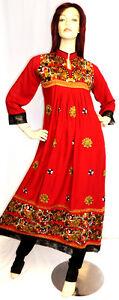 Shalwar-Kameez-Salwar-Pakistani-Indian-Designer-Red-3pc-Sari-Abaya-Dress-Suit-16