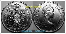 CANADA 1978 CANADIAN HALF DOLLAR COAT OF ARMS QUEEN RARE 50 CENT COIN
