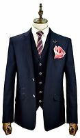 Mens Designer Slim Fit Blazer Waistcoat Trousers Sold Separately 3 Piece Suit