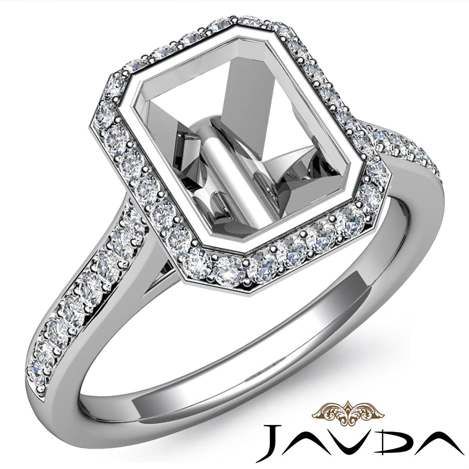 6544ccd8e766d White Ring Engagement Diamond gold 14k Mount Semi 0.8Ct Set Bezel ...