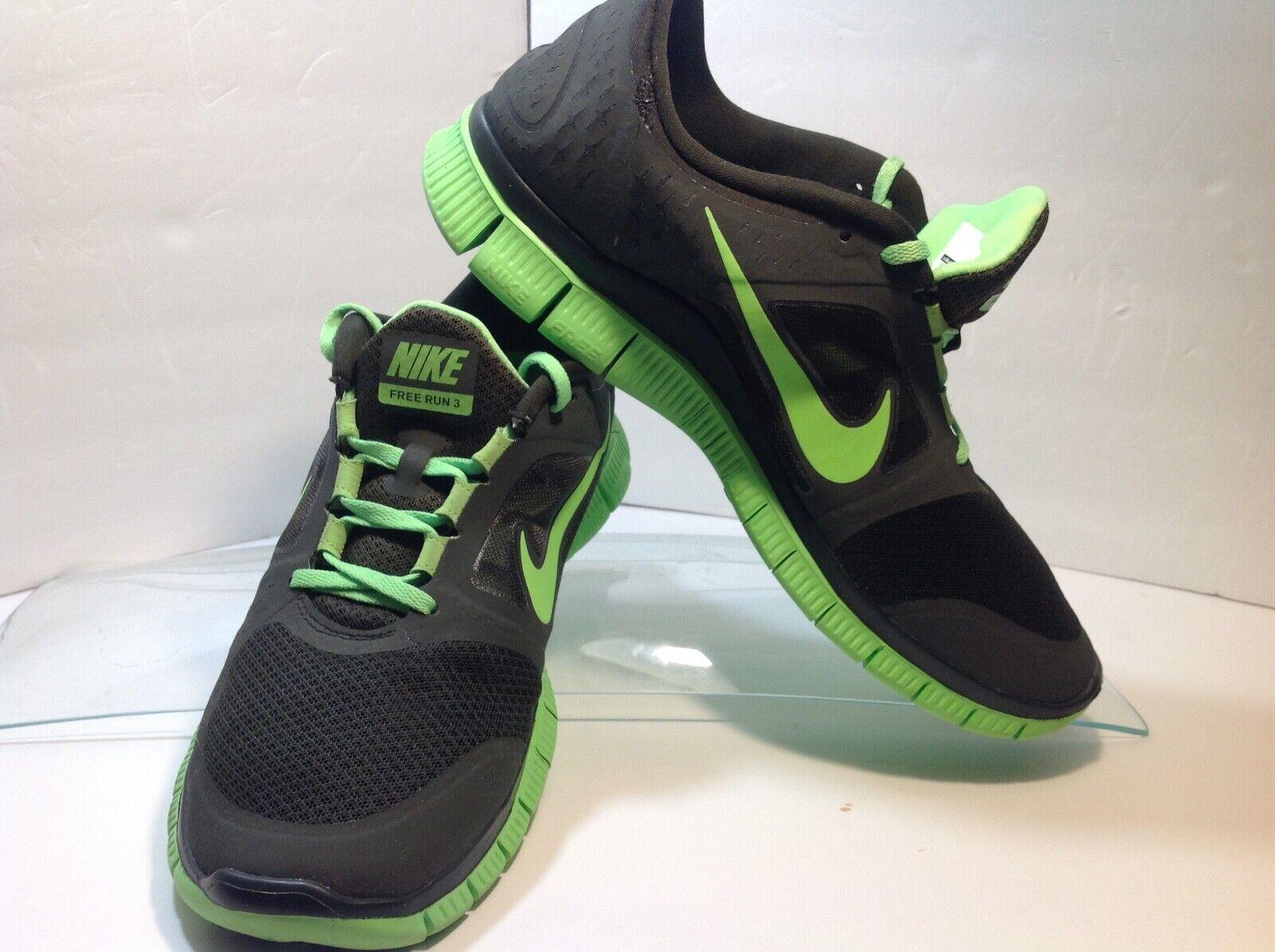 herr Nike free springa 3 Storlek 11 svart  grön 510642 -330 Flysticka