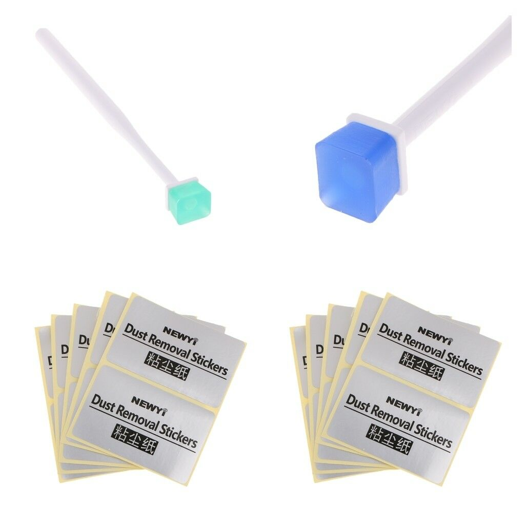 2X Sensor Cleaning Brush Cleaner Jelly Pen Dus-removal CCD CMOS Green+Blue