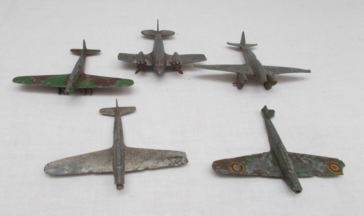 Vintage Dinky Toys 62K The Kings 60N Fairy battle Bomber 60G Comet Aircraft