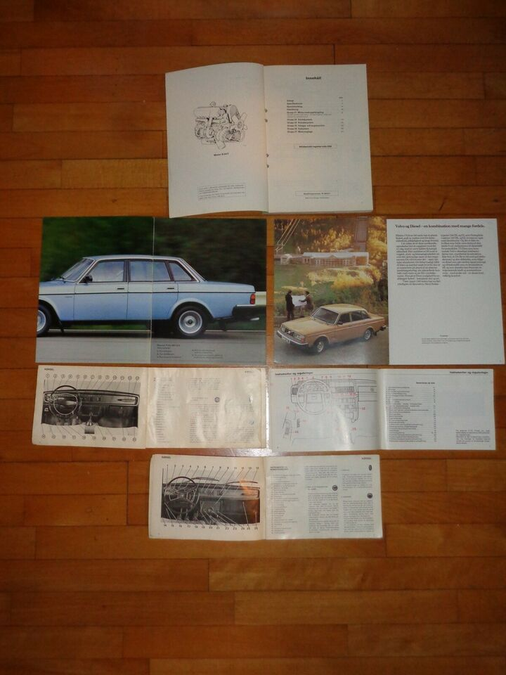 Værkstedshåndbog,brochure,instruktionsbog, Volvo