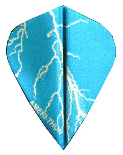 Dart Flights Silver Lightning Bolt Kite Sets 5 Blue