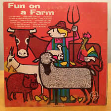 JOHN MARLO Fun On A Farm ROBIN HOOD CHILDREN'S LP *RARE*