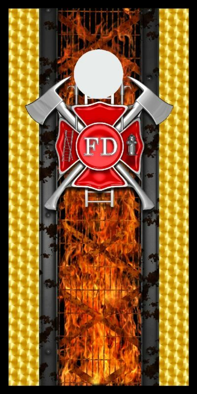 Firefighters  Maltese cross Cornhole board game decal wraps  shop now