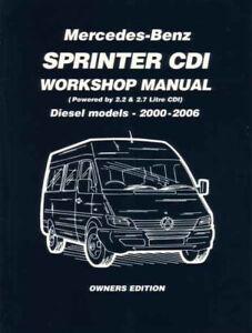 sprinter shop manual mercedes service repair workshop book dodge rh ebay com 07 dodge sprinter owners manual 2007 dodge sprinter 3500 owners manual