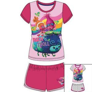 0a69cec7954 DreamWorks Trolls Girls SUMMER Short Sleeve T-Shirt Shorts Set ...