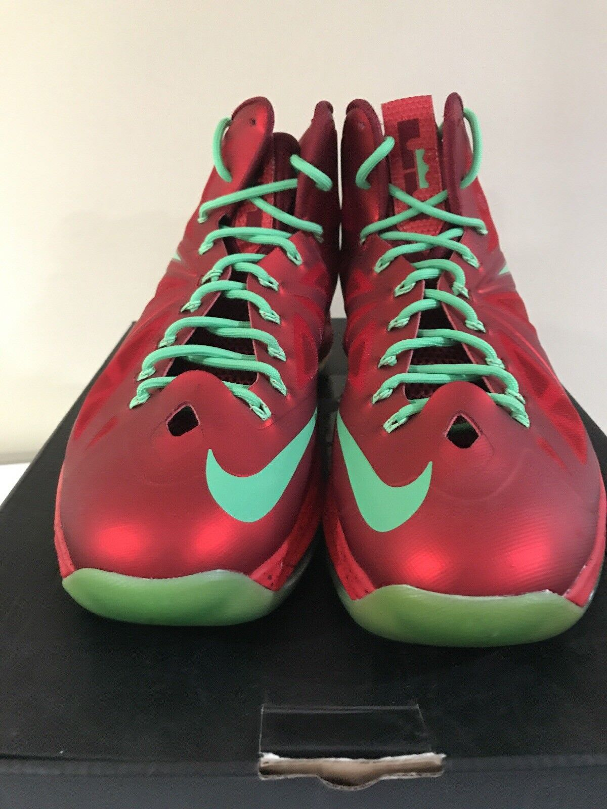 Nike Lebron X 541100-600  10 Christmas Pack Red Tourmaline Size-11