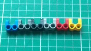 Lego 41678 ~ Technic Axle and Pin Connector Perpendicular Double Split Red x 4