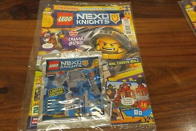 FIGURINE LEGO LEGO NEXO KNIGHTS  MAGAZINE OCTOBRE 2016 TRADING CARD GAME