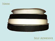 HOOK & LOOP TAPE SELF ADHESIVE 10M x 16MM WHITE STICKY STRIP