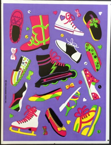 Dated 1992 Shoes /& Boots Vintage Hallmark Stickers