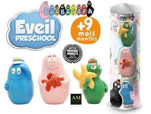 Plastoy-Barbapapa-Eveil-Pre-school-3er-Figures-Set-Tube-New