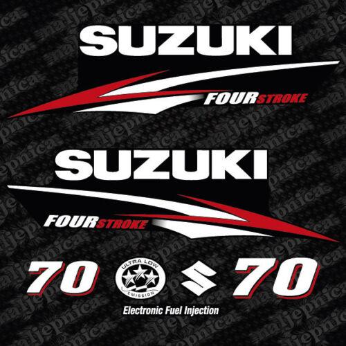 Suzuki 70 Four stroke outboard decal aufkleber adesivo sticker set