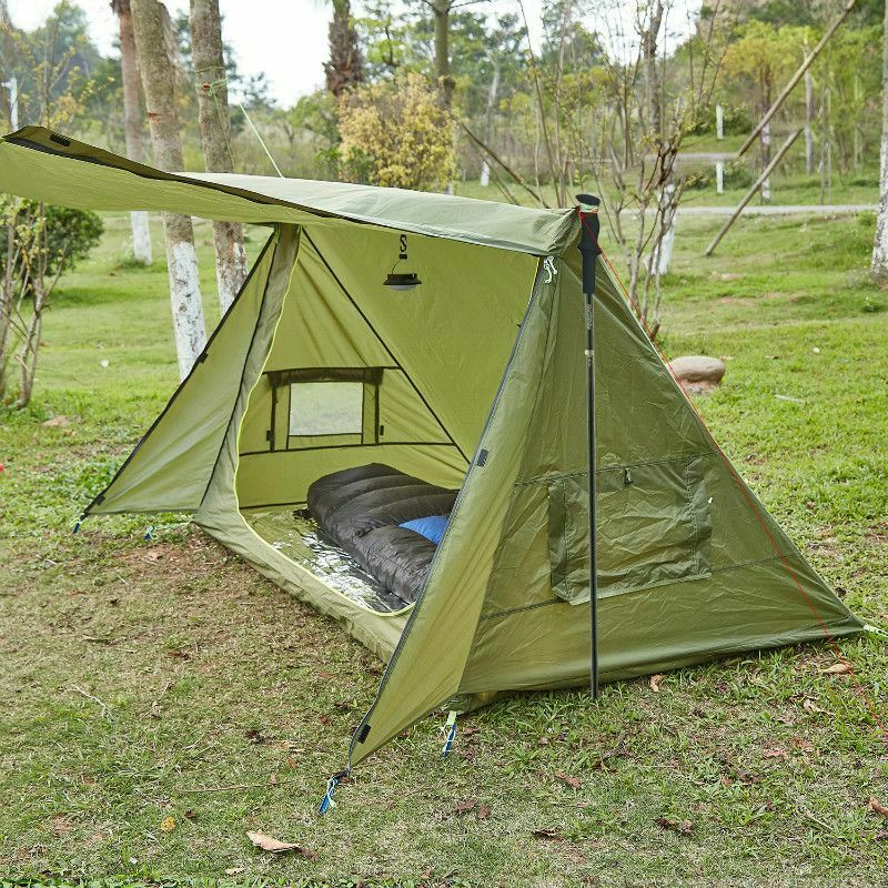 Camping Tent Ultralight Shelter For Survivalists Hunting Hiking 68D Polyester