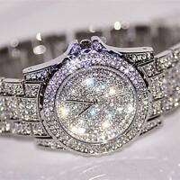 Luxury fashion Dress watchWomen's Rhinestone Crystal Quartz Ladies Wrist watches