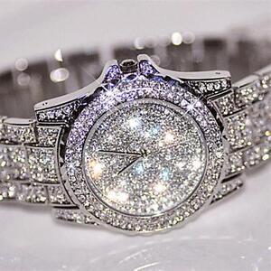 Luxury-fashion-Dress-watchWomen-039-s-Rhinestone-Crystal-Quartz-Ladies-Wrist-watches