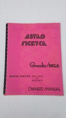 Manual-l@@k Special Summer Sale Audacious Astro Fighter-gremlin/sega W/ Schematics-orig