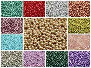 CHOOSE-COLOR-100pcs-4mm-Round-Beads-Czech-Pressed-Glass