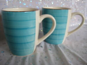 Image is loading NEW-Set-of-2-Royal-Norfolk-Coffee-Mugs- & NEW Set of 2 Royal Norfolk Coffee Mugs Turquoise Swirl Cups ...