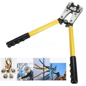 6-50 mm² Plug Crimp Crimping Tool Battery Cable Lug Hex Terminal Crimper