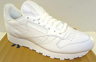 REEBOK Men's Classic Leather Walking Shoe J90117 White NWD | eBay