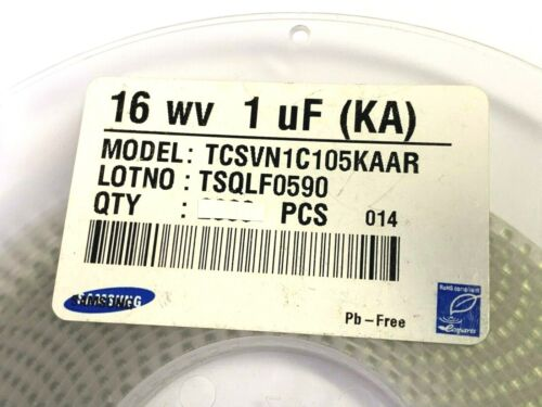 1µF 10/% Tantal BF= A SMD 50 Stück Samsung TCSVN1C105KAAR 16V 50 x 1uF