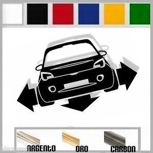adesivo sticker opel ADAM  tuning down-out dub prespaziato,auto