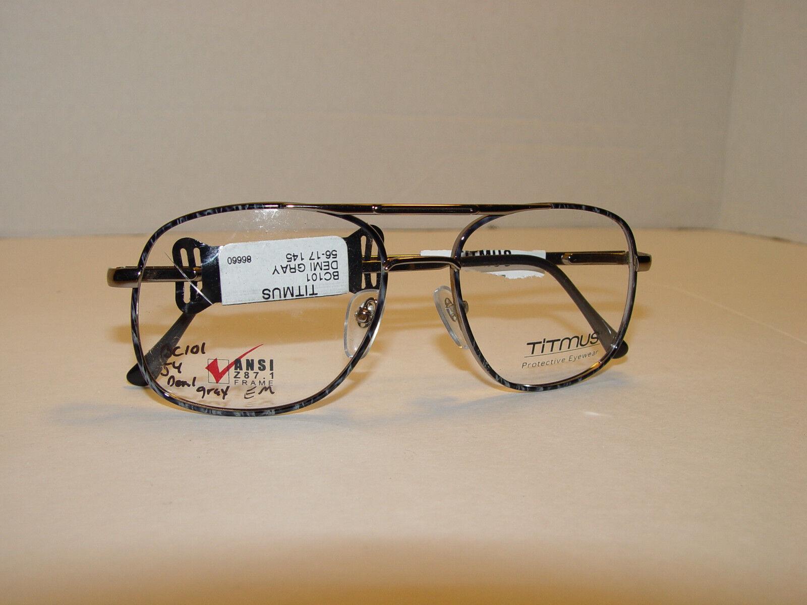 nouveau Titmus BC101 Demi gris Glasses Frames 56-17-145