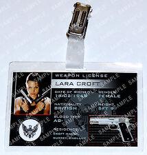 Lara Croft Tomb Raider ID Badge Weapon License Cosplay Costume Prop Comic Con