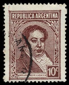 ARGENTINA-431a-Mi412ii-Bernardino-Rivadavia-1939-Printing-pf27368