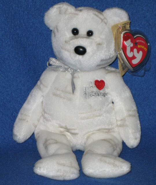 TY WHITE SHOOTING STAR BEANIE BABY - UK EXCLUSIVE - MINT with MINT TAGS