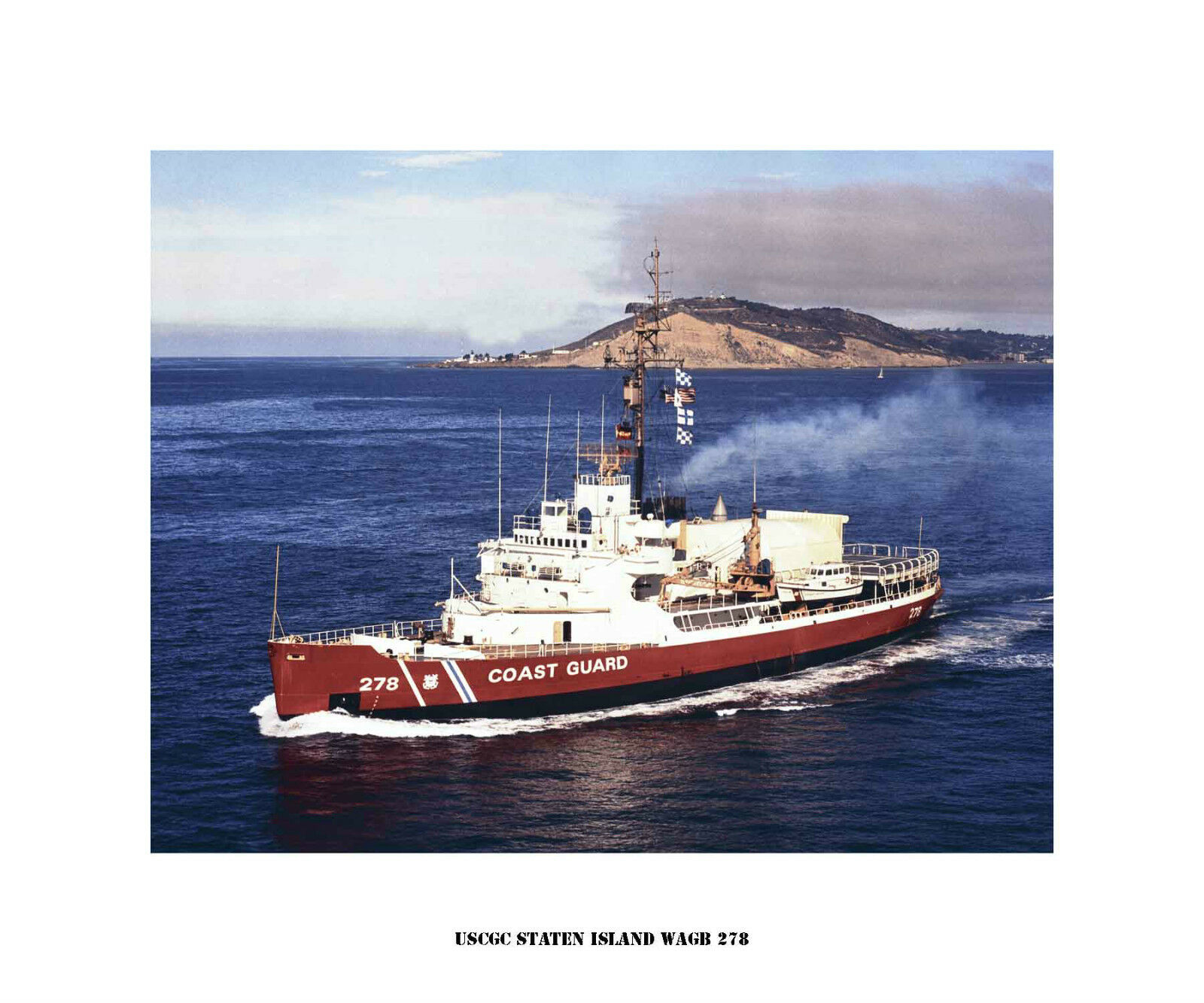 USCGC Staten Island WAGB 278 ---USCG, United States Coast Guard Ship Photo Drucken