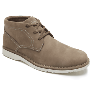 c130640529c Details about MENS ROCKPORT CABOT SUEDE LEATHER CHUKKA BOOTS - UK SIZE 9 -  TAUPE - BX2029.