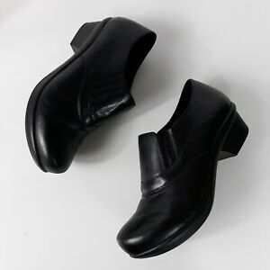 abeo womens comfort shoes sz 9m colbie black leather slip