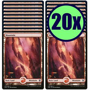 20x MOUNTAIN 275 Full Art Basic Land NM/LP MTG Magic Zendikar Rising