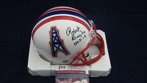 56c18256 Robert Brazile Signed Houston Oilers T/B Mini Helmet W/HOF 18 - JSA ...