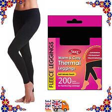 Ladies Soft Warm Winter Thermal Seamless Leggings Fleece Luxury Brushed Inside