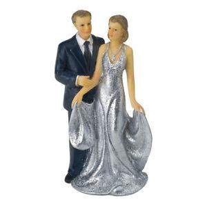 Silver-Wedding-Couple-25th-Anniversary-Cake-Topper