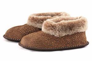Ladies-Genuine-Sheepskin-Slippers-Womens-Leather-Mule-Boots-Fur-Wool-Hard-Sole