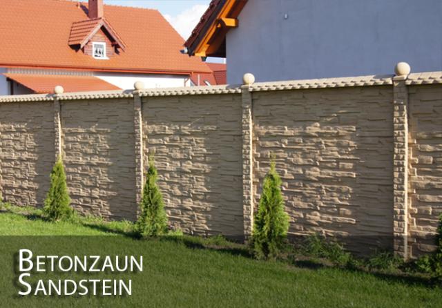 1m Zaun Betonzaun Holzoptik Gartenzaun Zäune Betonzäune WINTERPREIS