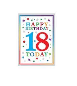 Geburtstagskarte Text 18.Details Zu 18 Geburtstagskarte Gruss Glitzer Finish Folie Dicke Text Ausverkauf Angebot