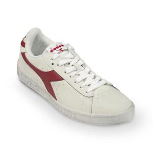 Dettagli su Scarpe Sneaker Uomo DIADORA Modello Game L Low Waxed White Red Pepper