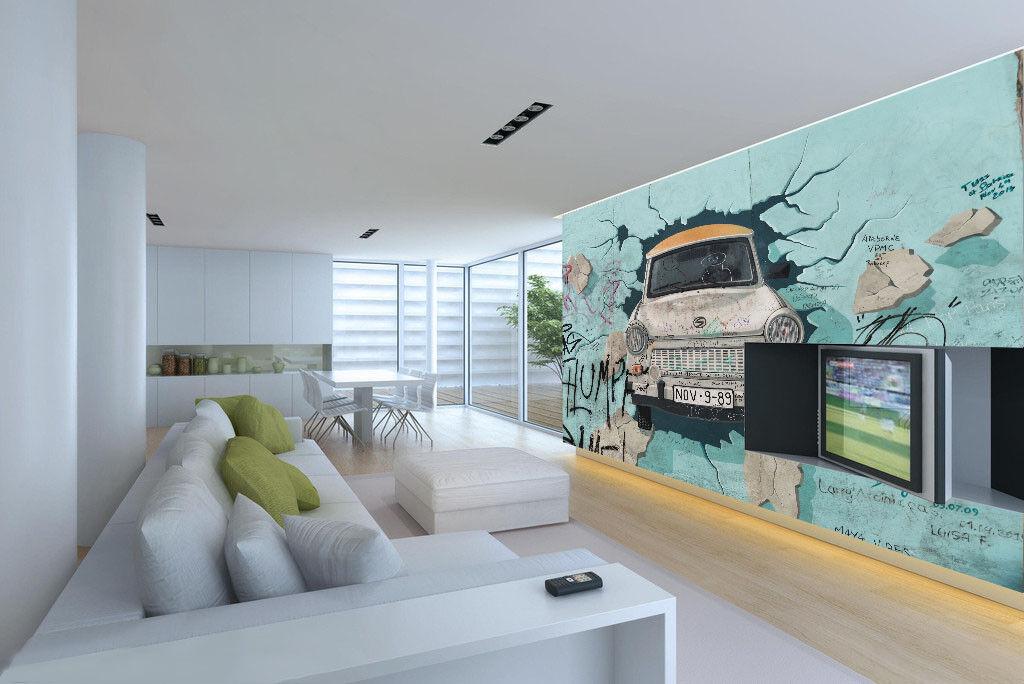 3D Graffiti Car 87 Wall Paper Murals Wall Print Wall Wallpaper Mural AU Lemon