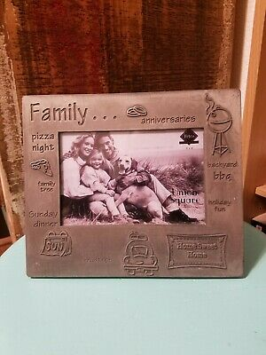 New Fetco 6x4 Pewter Picture Photo Frame Family