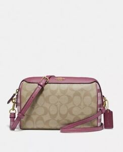 Coach-Bennett-Crossbody-In-Signature-Canvas-With-Gingham-Print-F76630